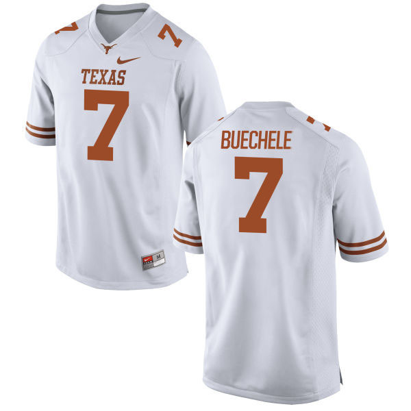 Men's Texas Longhorns 7 Shane Buechele White Nike College Jersey