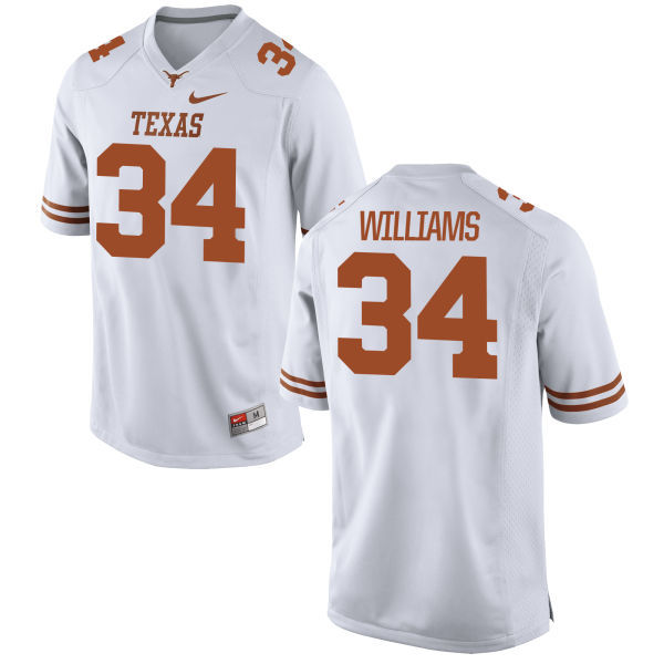 Men's Texas Longhorns 34 Ricky Williams White Nike College Jersey