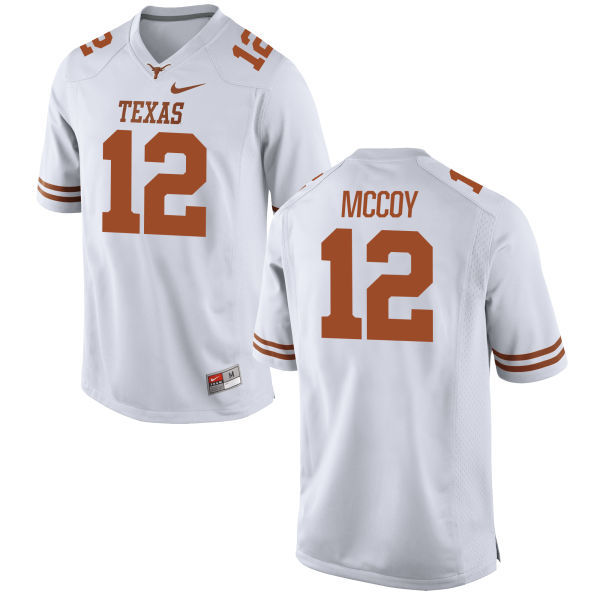 Men's Texas Longhorns 12 Colt McCoy White Nike College Jersey