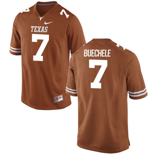 Men's Texas Longhorns 7 Shane Buechele Orange Nike College Jersey