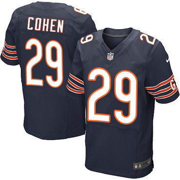 buy popular 68bb3 4cde2 Nike Chicago Bears #29 Tarik Cohen Navy Blue Team Color ...