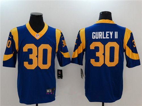 Wholesale Men's Los Angeles Rams #30 Todd Gurley II Royal Blue 2017 Vapor  supplier