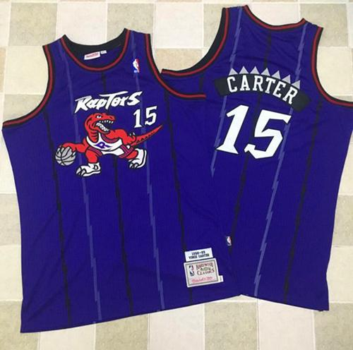 Mitchell And Ness Toronto Raptors  15 Vince Carter Purple Throwback  Stitched NBA Jersey c5be62fff