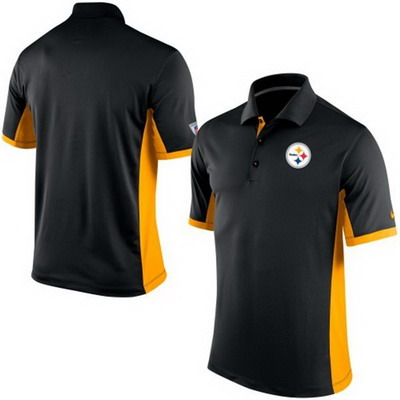 Men's Pittsburgh Steelers Nike Black Team Issue Performance Polo