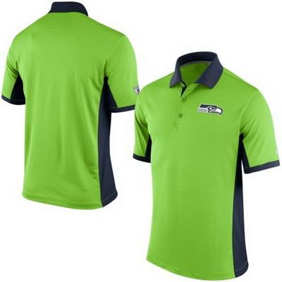 Men's Seattle Seahawks Nike Neon Green Team Issue Performance Polo