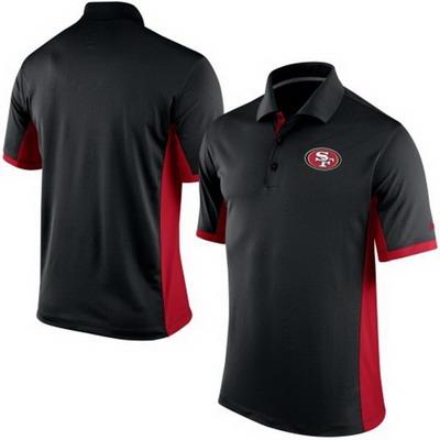 Men's San Francisco 49ers Nike Black Team Issue Performance Polo
