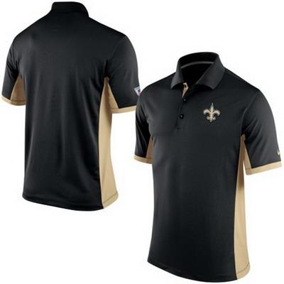 Men's New Orleans Saints Nike Black Team Issue Performance Polo