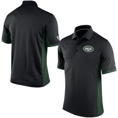 Men's New York Jets Nike Black Team Issue Performance Polo