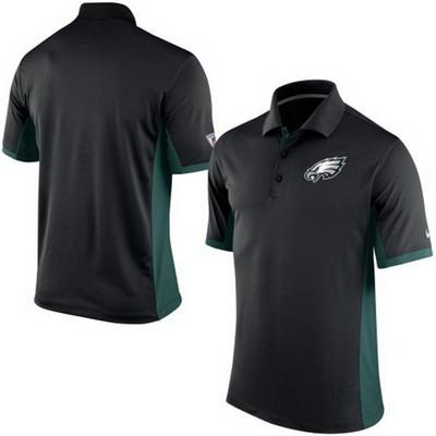 Men's Philadelphia Eagles Nike Black Team Issue Performance Polo