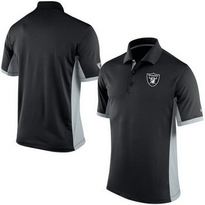 Men's Oakland Raiders Nike Black Team Issue Performance Polo