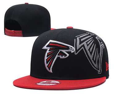 NFL Atlanta Falcons Team Logo Black Adjustable Hat