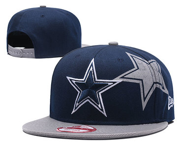 NFL Dallas Cowboys Team Logo Black Adjustable Hat