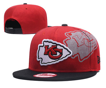 NFL Kansas Chiefs Team Logo Red Adjustable Hat