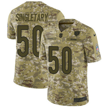 Nike Bears #50 Mike Singletary Camo Men's Stitched NFL Limited 2018 Salute To Service Jersey