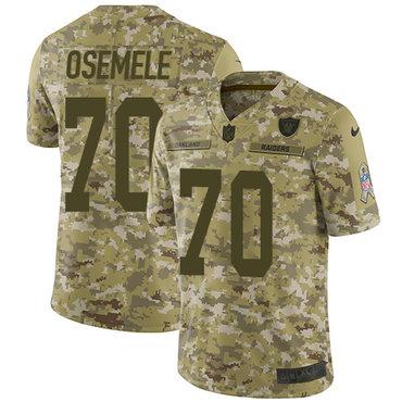 Nike Raiders #70 Kelechi Osemele Camo Men\'s Stitched NFL Limited 2018 Salute To Service Jersey
