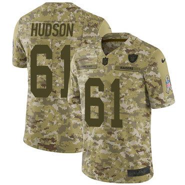 Nike Raiders #61 Rodney Hudson Camo Men\'s Stitched NFL Limited 2018 Salute To Service Jersey