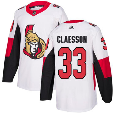 Adidas Men's Ottawa Senators #33 Fredrik Claesson Authentic White Away NHL Jersey