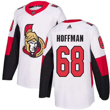 Adidas Men's Ottawa Senators #68 Mike Hoffman Authentic White Away NHL Jersey