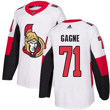 Adidas Men's Ottawa Senators #71 Gabriel Gagne Authentic White Away NHL Jersey