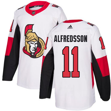 Adidas Men's Ottawa Senators #11 Daniel Alfredsson Authentic White Away NHL Jersey