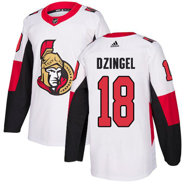 Adidas Men's Ottawa Senators #18 Ryan Dzingel Authentic White Away NHL Jersey