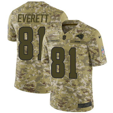 Nike Rams #81 Gerald Everett Camo Men\'s Stitched NFL Limited 2018 Salute To Service Jersey