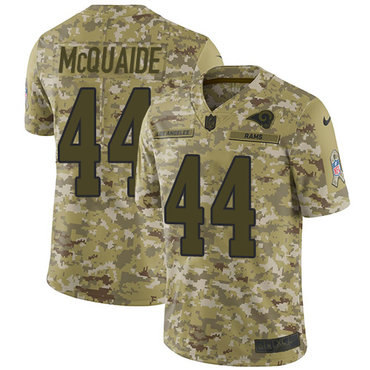 Nike Rams #44 Jacob McQuaide Camo Men\'s Stitched NFL Limited 2018 Salute To Service Jersey