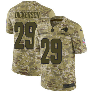 Nike Rams #29 Eric Dickerson Camo Men\'s Stitched NFL Limited 2018 Salute To Service Jersey