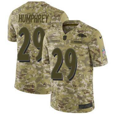 Nike Ravens #29 Marlon Humphrey Camo Men\'s Stitched NFL Limited 2018 Salute To Service Jersey