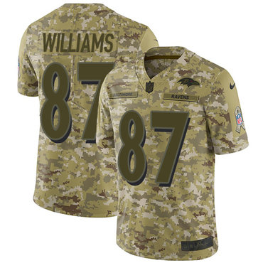 Nike Ravens #87 Maxx Williams Camo Men\'s Stitched NFL Limited 2018 Salute To Service Jersey