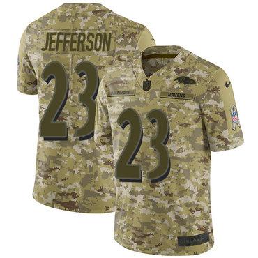 Nike Ravens #23 Tony Jefferson Camo Men\'s Stitched NFL Limited 2018 Salute To Service Jersey