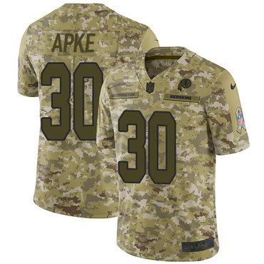 Nike Redskins #30 Troy Apke Camo Men\'s Stitched NFL Limited 2018 Salute To Service Jersey
