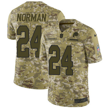 Nike Redskins #24 Josh Norman Camo Men\'s Stitched NFL Limited 2018 Salute To Service Jersey