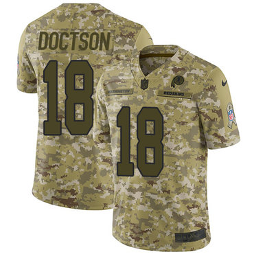Nike Redskins #18 Josh Doctson Camo Men\'s Stitched NFL Limited 2018 Salute To Service Jersey