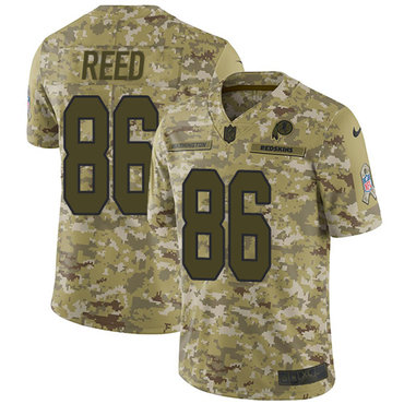Nike Redskins #86 Jordan Reed Camo Men\'s Stitched NFL Limited 2018 Salute To Service Jersey