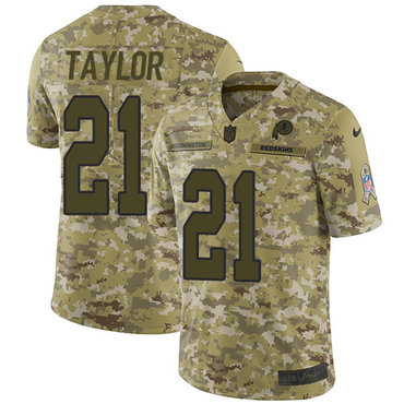 Nike Redskins #21 Sean Taylor Camo Men\'s Stitched NFL Limited 2018 Salute To Service Jersey