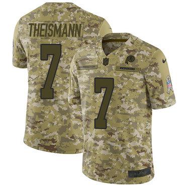 Nike Redskins #7 Joe Theismann Camo Men\'s Stitched NFL Limited 2018 Salute To Service Jersey