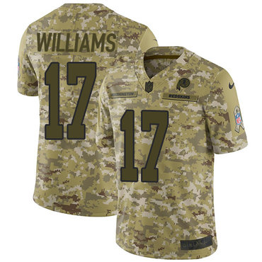 Nike Redskins #17 Doug Williams Camo Men\'s Stitched NFL Limited 2018 Salute To Service Jersey