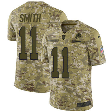 Nike Redskins #11 Alex Smith Camo Men\'s Stitched NFL Limited 2018 Salute To Service Jersey