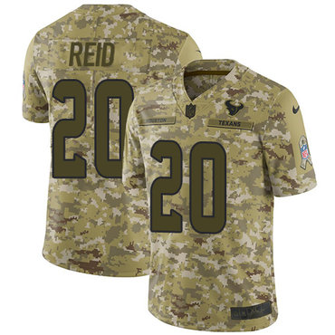 Nike Texans #20 Justin Reid Camo Men\'s Stitched NFL Limited 2018 Salute To Service Jersey