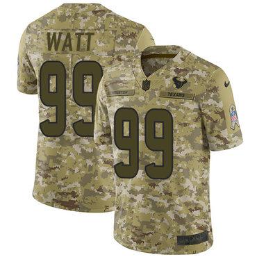 Nike Texans #99 J.J. Watt Camo Men\'s Stitched NFL Limited 2018 Salute To Service Jersey