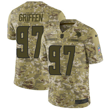 Nike Vikings #97 Everson Griffen Camo Men's Stitched NFL Limited 2018 Salute To Service Jersey