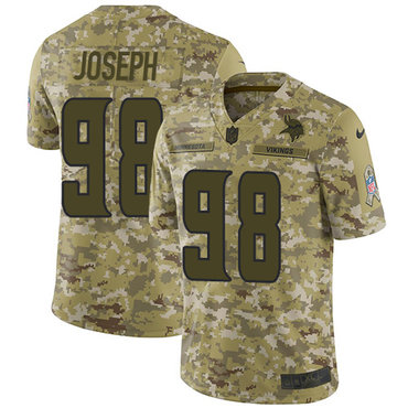 Nike Vikings #98 Linval Joseph Camo Men's Stitched NFL Limited 2018 Salute To Service Jersey