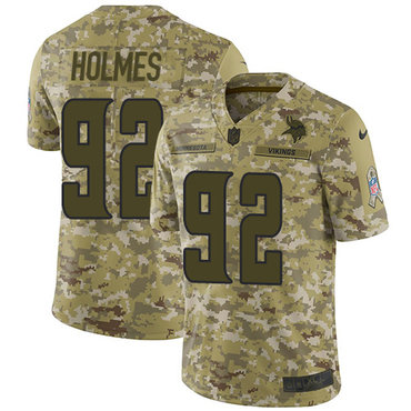 Nike Vikings #92 Jalyn Holmes Camo Men's Stitched NFL Limited 2018 Salute To Service Jersey