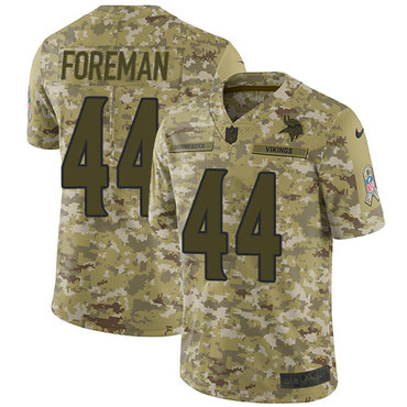 Nike Vikings #44 Chuck Foreman Camo Men's Stitched NFL Limited 2018 Salute To Service Jersey