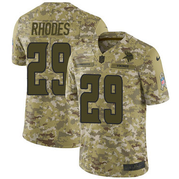 Nike Vikings #29 Xavier Rhodes Camo Men\'s Stitched NFL Limited 2018 Salute To Service Jersey