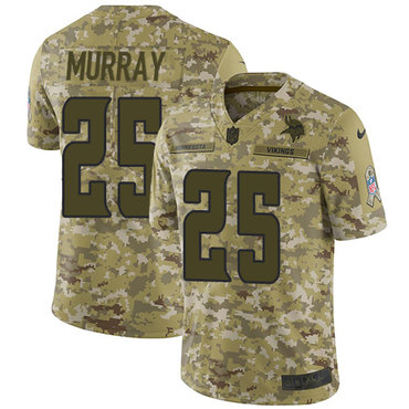 Nike Vikings #25 Latavius Murray Camo Men's Stitched NFL Limited 2018 Salute To Service Jersey