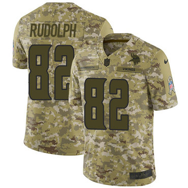 Nike Vikings #82 Kyle Rudolph Camo Men\'s Stitched NFL Limited 2018 Salute To Service Jersey