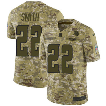 Nike Vikings #22 Harrison Smith Camo Men's Stitched NFL Limited 2018 Salute To Service Jersey