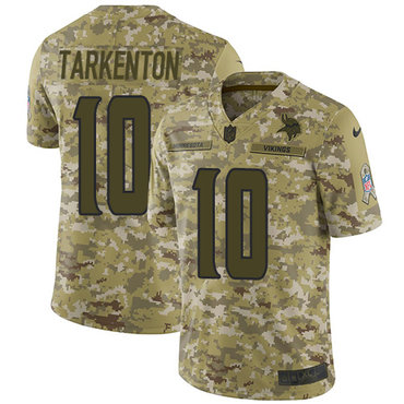 Nike Vikings #10 Fran Tarkenton Camo Men's Stitched NFL Limited 2018 Salute To Service Jersey